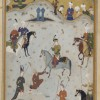 A King playing polo: late 15th century image. Sackler