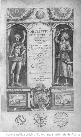 The frontispiece of the Herbert's 1634 edition. From gallica. BNF image