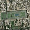 The maydan in Isfahan now: Google Earth image rotated