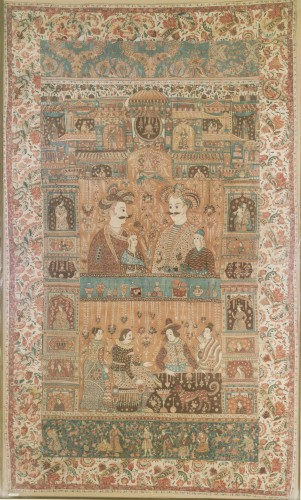 'Depicting nations' in the V & A Fabric of india exhibition. Image: V&A