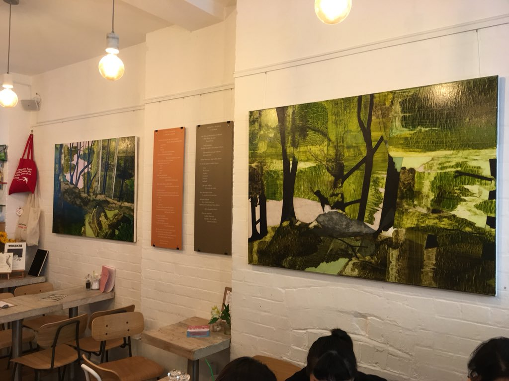 Poetry exhibition: Zoe Benbow and Sarah Corbett: overall view