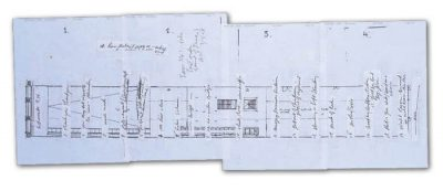 Plans for Bruce Nauman's Turbine Hall layout. Image: Tate
