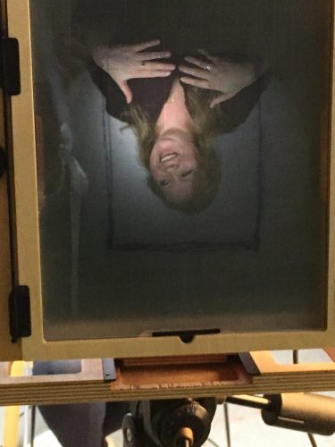 Collodion photography: This is what the photographer sees - an upside-down image