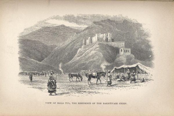 This is the mountain castle where Layard - the same man who rediscovered Nineveh - stayed when he visited, and fought with, the Bakhtiari. Image from: Early adventures in Persia 1887