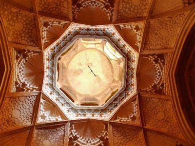 Muqarnas, sometimes called 'stalactite vaulting', are a three-dimensional form of architectural decoration of domes, niches and the underside of vaults. For the craftsmen-constructors, they require the application of detailed geometric principles; for the viewer, they allow infinitely imaginative reviewing