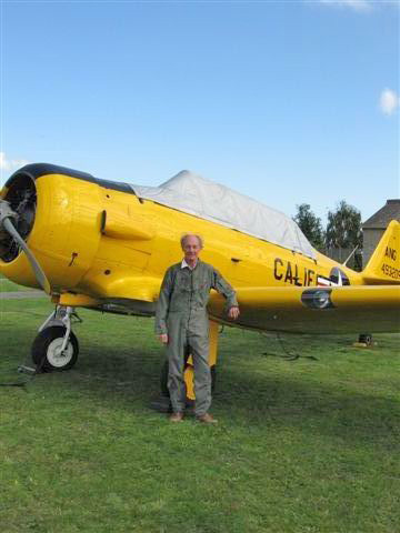 This is my dad. Trying out a Tiger Moth